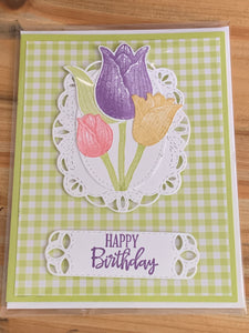 Stamped Birthday Greeting Card