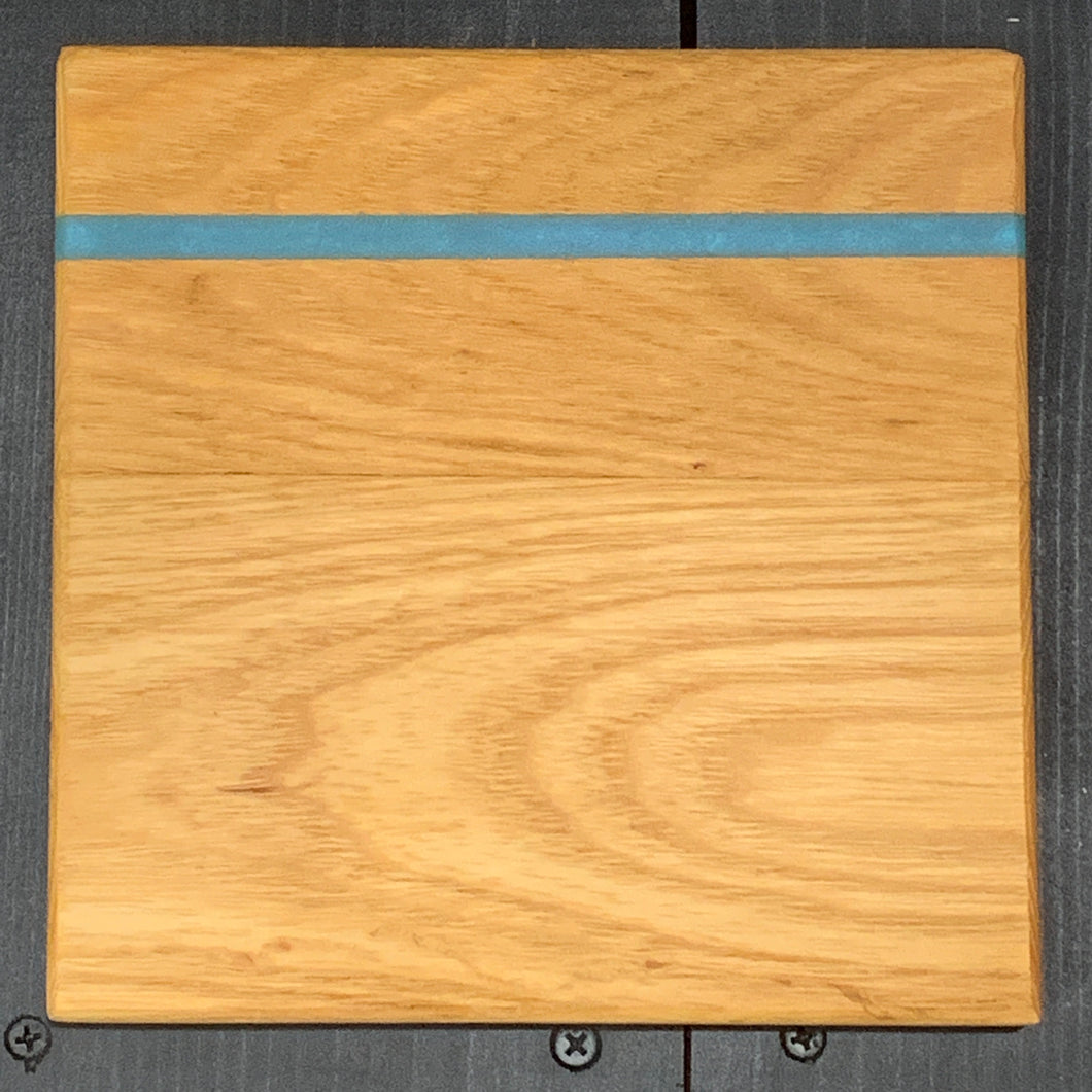 Oak and Resin River Cutting Board