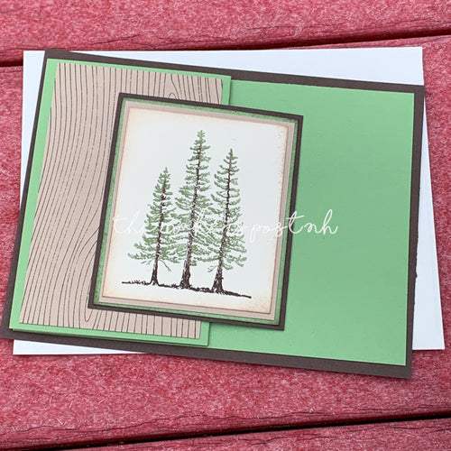 Stamped Accordion Fold Tree Cards