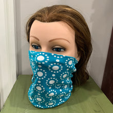 Load image into Gallery viewer, Face Mask/Gaiter: Teal Geo