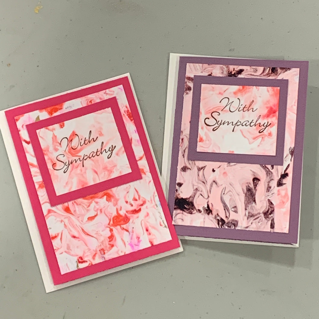 Paper Marbling and Cards