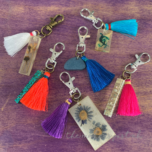 Tassel & Resin Bag Clip Charms