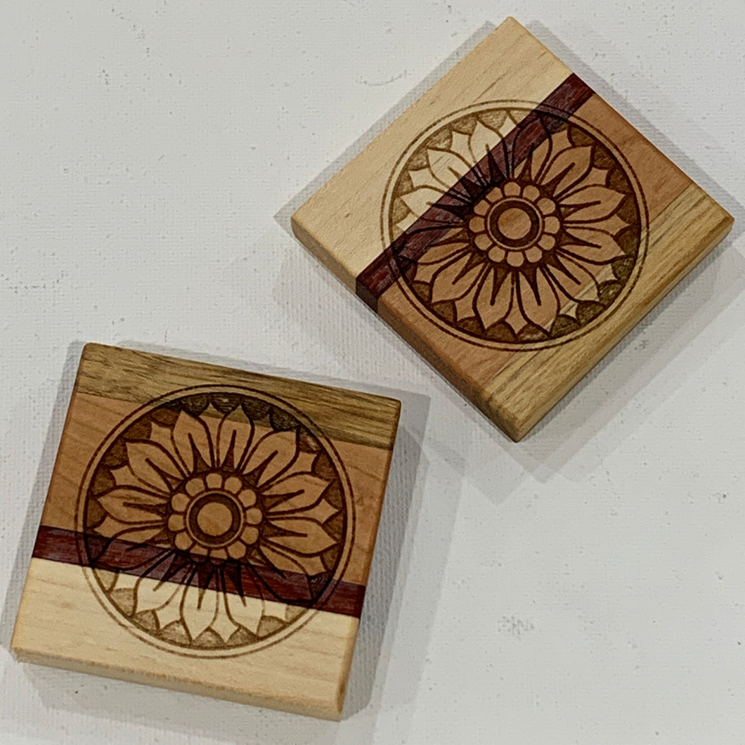 Wooden Sunflower Magnet