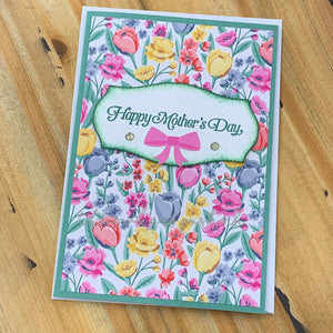 Stamped Mother's Day Greeting Card