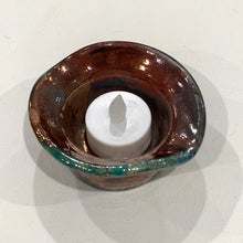 Load image into Gallery viewer, Pottery Tea Light Holder