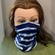 Load image into Gallery viewer, Face Mask/Gaiter: Indigo Tie Dye