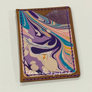 Painted Modern Rustic Card Wallet