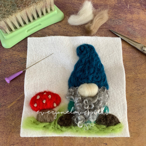 Flat Felting Workshop: Gnome