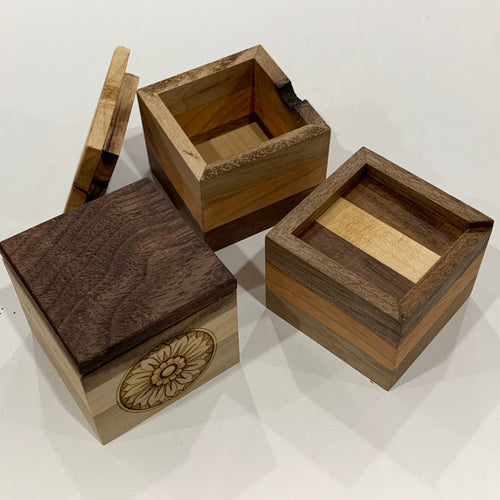 Tiny Wooden Ring Boxes