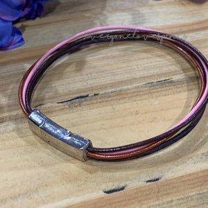 Skinny Leather Bracelets w Magnetic Clasp