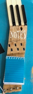 Recycled Piano Keys Note Holder