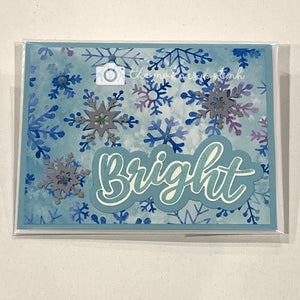 Stamped Winter Greetings Cards
