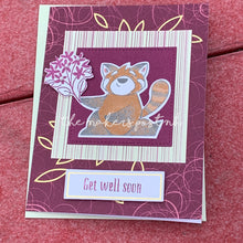 Load image into Gallery viewer, Stamped Get Well Greeting Card
