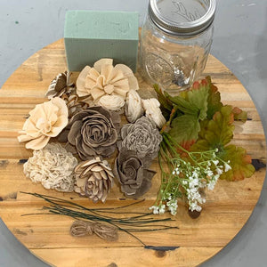 Wood Flower Jar Kit