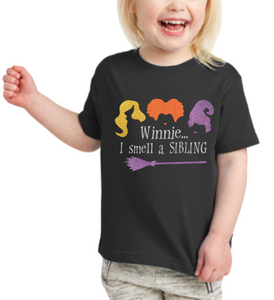 I Smell a Sibling Youth / Toddler Big Sister Pregnancy Reveal Shirt