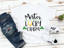 Load image into Gallery viewer, Boys / Toddler Mister Lucky Charm Horseshoe St Patricks Kids Shirt