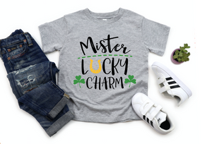 Boys / Toddler Mister Lucky Charm Horseshoe St Patricks Kids Shirt