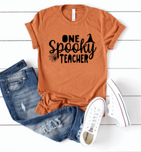 Load image into Gallery viewer, One Spooky Teacher Halloween Shirt