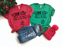 Load image into Gallery viewer, Cookies Aren't The Only Thing In The Oven Christmas Pregnancy Shirt