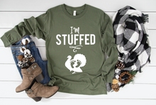 Load image into Gallery viewer, I'm Stuffed Fall Pregnancy Long Sleeve Shirt
