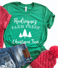 Load image into Gallery viewer, Personalized Christmas Trees Christmas Shirt