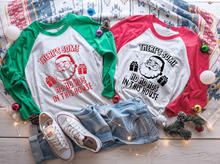 Load image into Gallery viewer, There's some Ho Ho Hos in this House Raglan Shirt