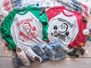 There's some Ho Ho Hos in this House Raglan Shirt
