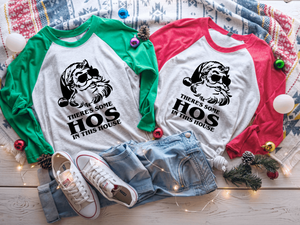 There's some Hos in this House Raglan Shirt