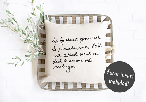 Personal Handwritten Pillow