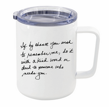 Load image into Gallery viewer, Personal Handwritten Travel Insulated Mug