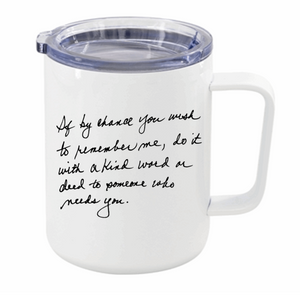 Personal Handwritten Travel Insulated Mug
