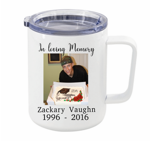 In Loving Memory Memorial Mug Travel Insulated Mug