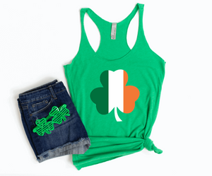 Ireland Flag Irish Flag Shamrock Clover St Patricks Tank