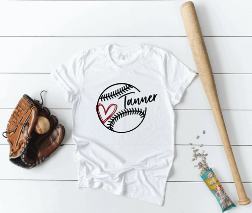 Baseball / T-Ball Mom Personalized Name Shirt
