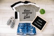 Load image into Gallery viewer, Easily Distracted By Dogs Dog Crop Top Cropped T-shirt