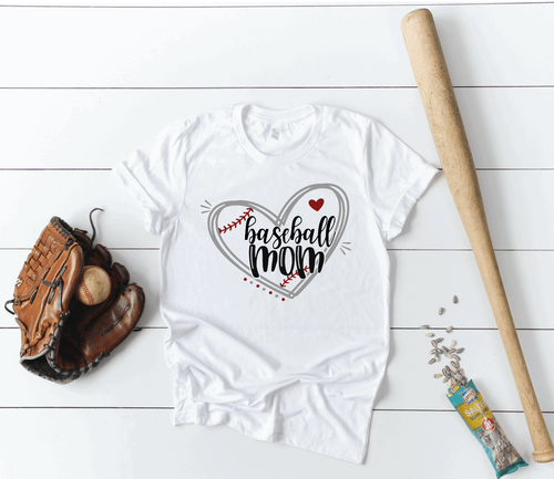 Baseball Mom Heart Game Day Shirt