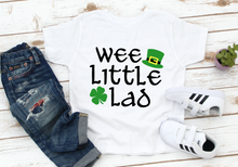 Load image into Gallery viewer, Boys / Toddler Wee Little Lad St Patricks Kids Shirt