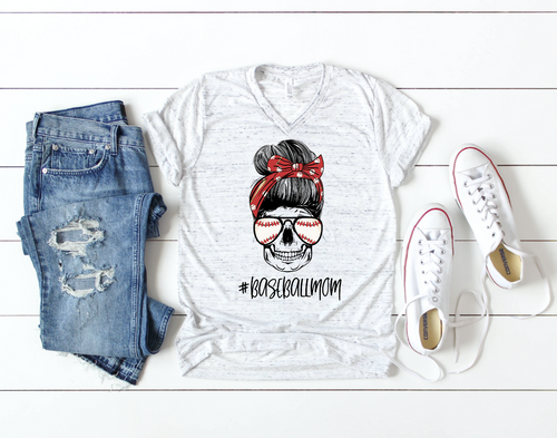Baseball Mom Skull Shirt & Tank