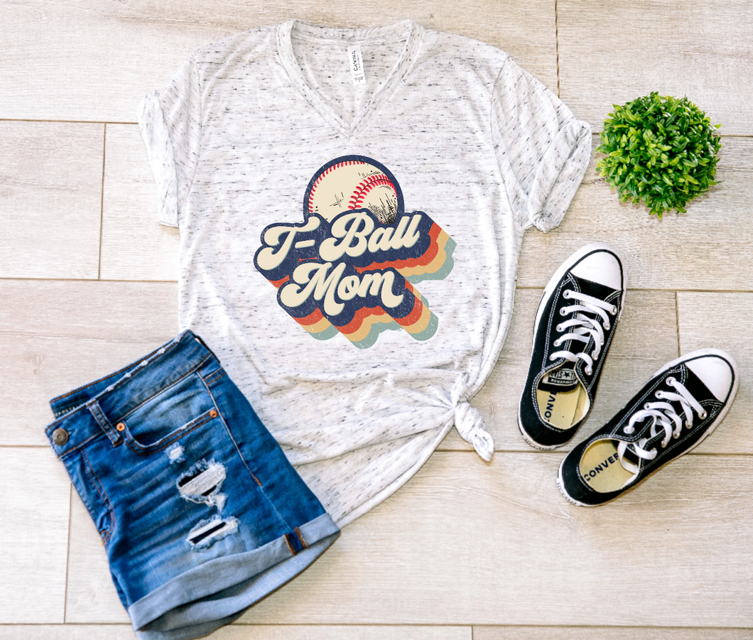 T-Ball Mom Retro Shirt & Tank