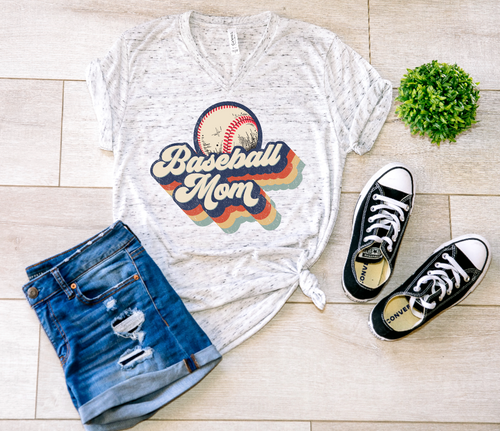 Baseball Mom Retro Shirt & Tank