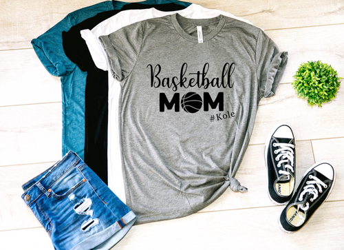 Basketball Mom Personalized Shirt