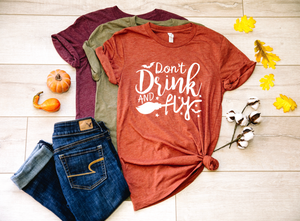 Don't Drink & Fly Witch Halloween Shirt