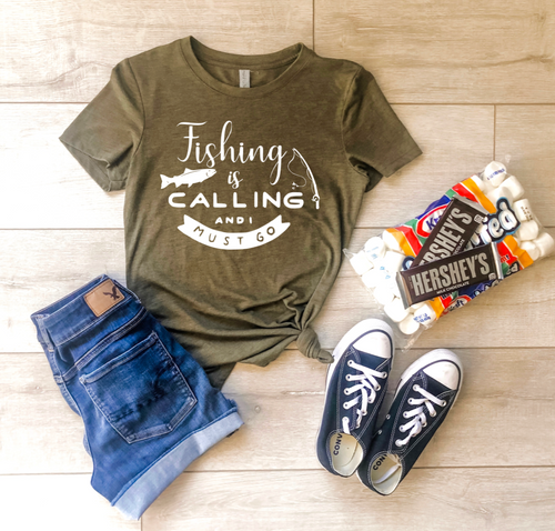 Fishing Is Calling Shirt