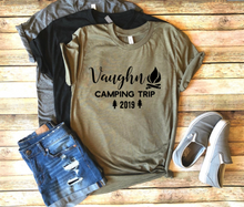 Load image into Gallery viewer, Family Personalized Camping Shirt