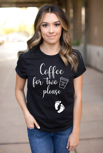 Coffee for Two Pregnancy Shirt