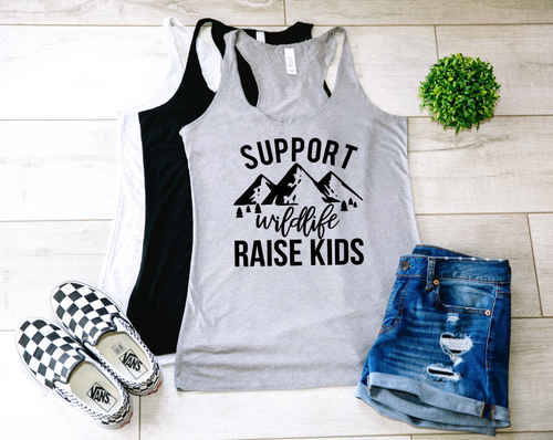 Support Wildlife Raise Kids Tank-Top