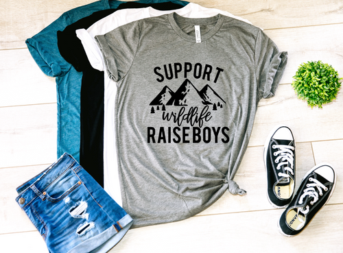 Support Wildlife Raise Boys Shirt