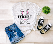 Load image into Gallery viewer, Pregnant Bunny Easter Pregnancy Shirt