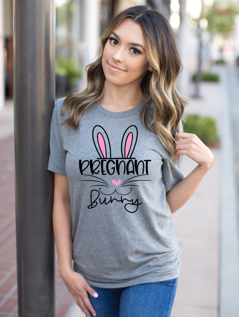 Pregnant Bunny Easter Pregnancy Shirt