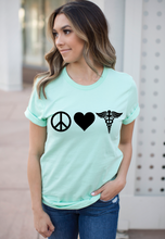 Load image into Gallery viewer, Peace Love Nursing Shirt